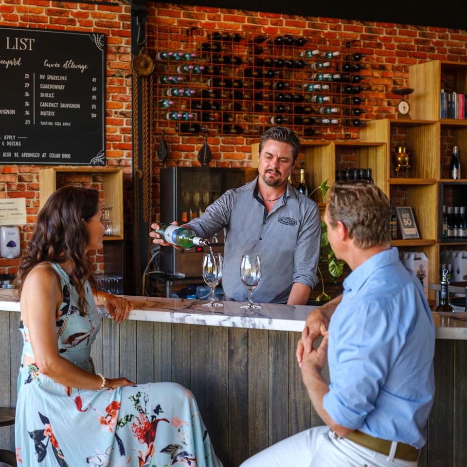 Photo credit (Tourism Western Australia). Location displayed (Margaret River Wine Region).