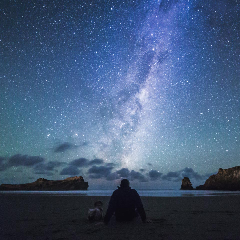Photo credit (Daniel Rood). Location displayed (Castlepoint, Wairarapa).