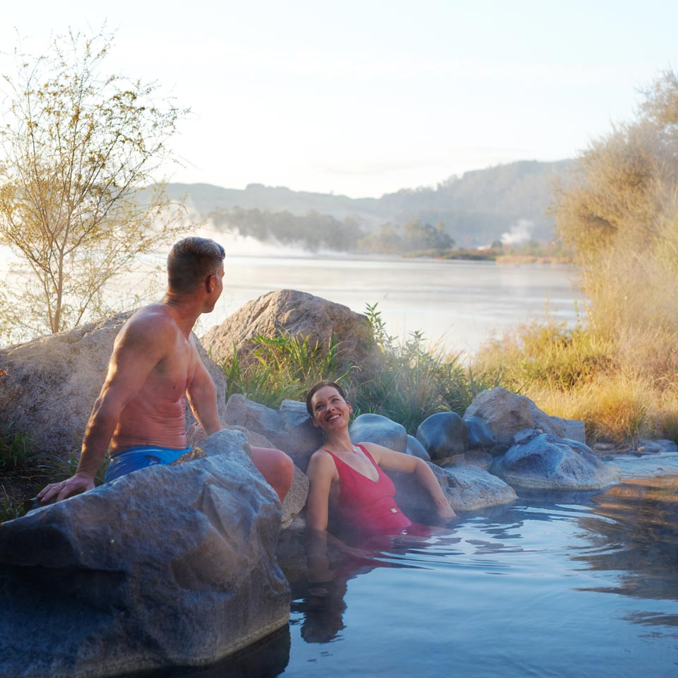 Photo credit (Fraser Clements). Location displayed (Polynesian Spas, Rotorua).