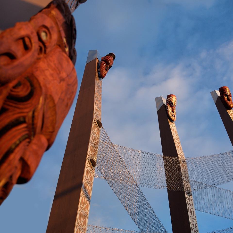 Photo credit (Destination Rotorua). Location displayed (Te Puia, Rotorua).