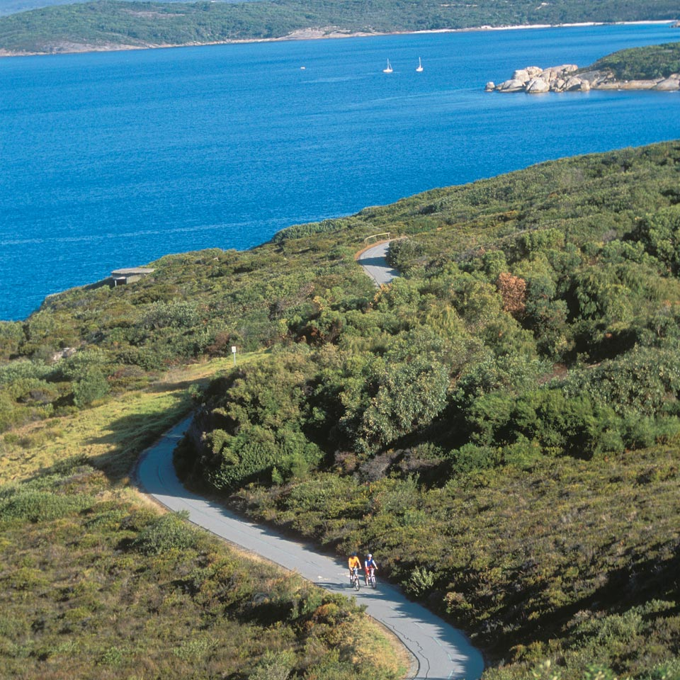 Photo credit (Tourism Western Australia). Location displayed (Marine Drive Scenic Pass, Albany, Western Australia).