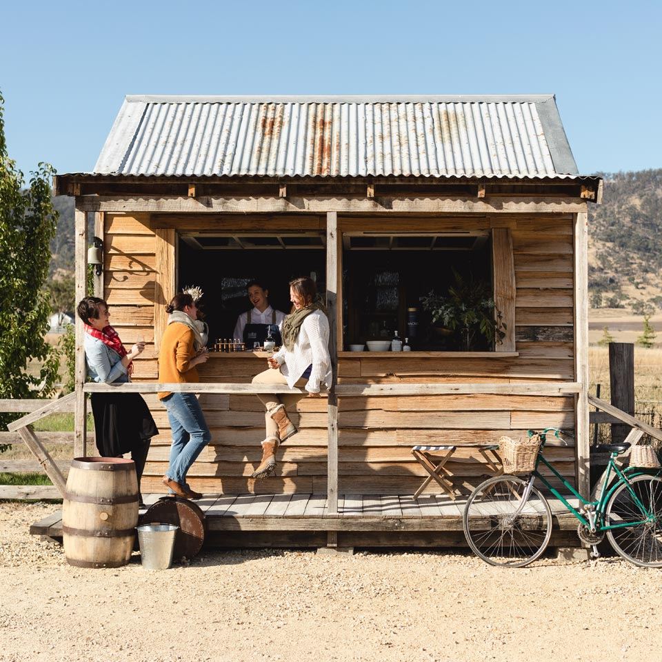 Photo credit (Tourism Tasmania). Location displayed (Road Side Stall, Tasmania).